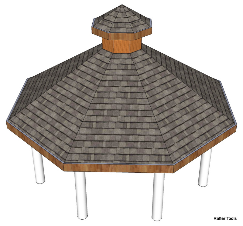 Octagonal roof white mountain octagon shelter 98 oct025 4t for Hexagonal roof framing