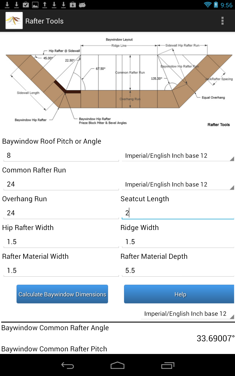 Rafter Tools For Android Apps Calculator
